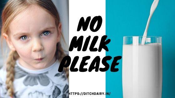 दूध पीने